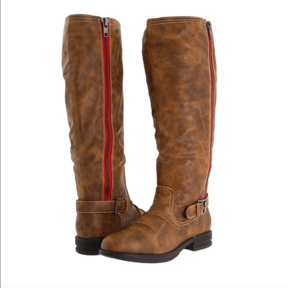 Madden Girl Brown Riding Boots